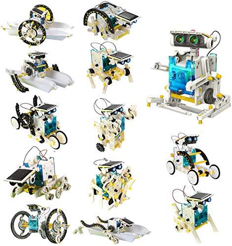 Laelr 13 en 1 Juguetes Educativos de Robots Solares Juguetes Educativos de Bricolaje Kit Experimental de Ciencia de Juguetes solares de energía Solar para Mayores de 8 años