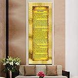 KWzEQ Islámico musulmán último sermón Lienzo póster de Pared Arte salón decoración de la Pared,Pintura sin Marco,60x150cm