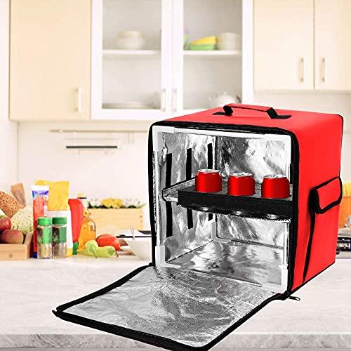 KKTECT Mochila para llevar comida Bolsa de aislamiento de papel de aluminio Mochila de entrega de pizza Bolsa de entrega de restaurante Mochila con aislamiento térmico Mochila Térmica