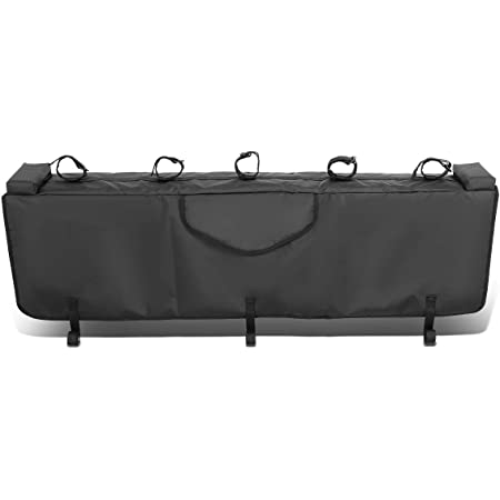 Black DNA MOTORING TGP-XS 53 Waterproof Pickup Truck Bed Tailgate Ped with Bike Racks fit Fits Trucks with Tail Gates up to 53 Wide