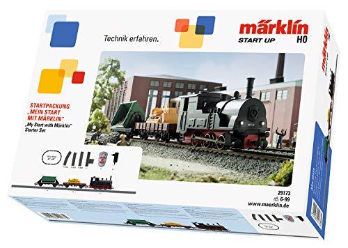Märklin 29173 Modellbahn Modelleisenbahn up-Startpackung Mein Start 230 Volt, Spur H0 Startset. Lokomotive, Wagen, Schienen und Steuergerät im Starterset enthalten, Bunt