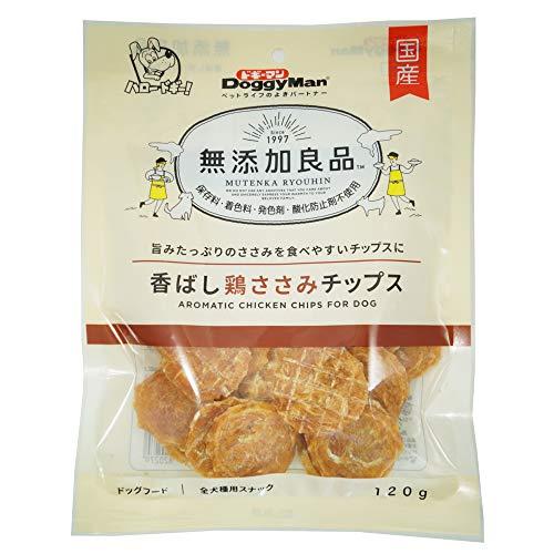 ドギーマン 犬用おやつ 無添加良品 香ばし鶏ささみ チップス チキン 120g