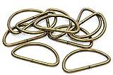 D Ringe Halbrundringe 25mm altmessing 10 Stück