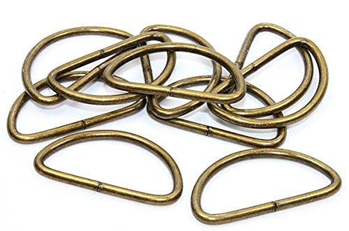 D Ringe Halbrundringe 30mm altmessing 10 Stück