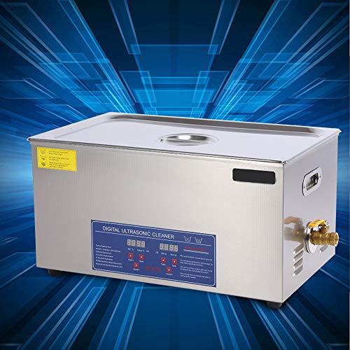 30L Edelstahl-Ultraschallreiniger, Ultraschallreinigungsmaschine mit digitale Timer-Steuerung, Ultraschallreinigungsgerät für Brillen Schmuck Zahnprothesen Münzen usw