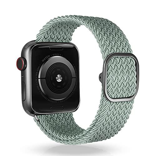 VEESIMI Correa Trenzada Compatible Con Apple Watch Band 38mm, 40 mm, 42 mm, 44 mm, con Hebilla Ajustable, Compatible con iWatch Band Series SE 6/5/4/3/2/1