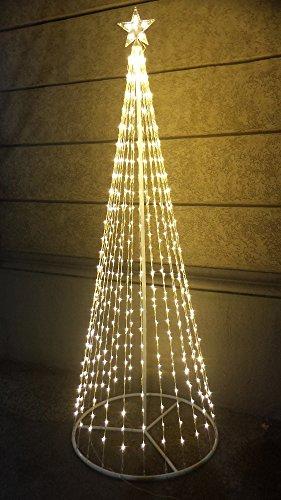 Salone Negozio Online Albero di Natale Style Basic 576 LED+Flash con Stella Altezza 2 Mt 24V Bianco Caldo