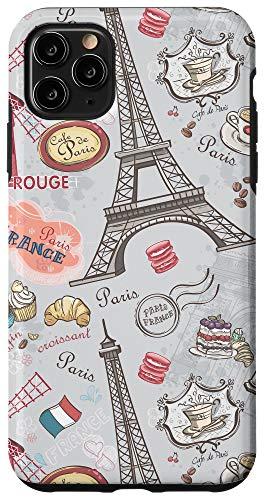 iPhone 11 Pro Max Paris France Eiffel Tower Retro Cartoon Art Lover Gift Case