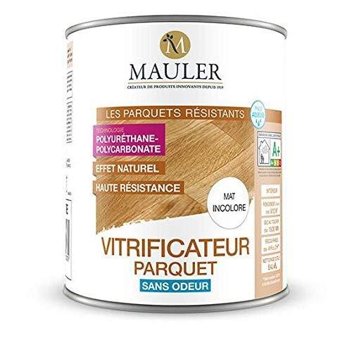 Vitrificateur Acrylique MAULER sans odeur pour parquet, escalier, meuble 2,5L ECOLABEL Aspect MAT -...