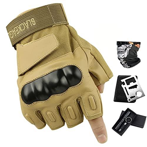 Guantes tácticos de motocross para hombre, pantalla táctil, guantes de ciclismo de carretera, camping, paintball, deportes al aire libre (amarillo, M)