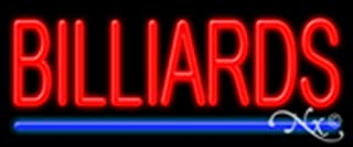 10x24x3 inches Billiards NEON Advertising Window Sign