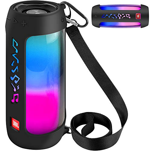 Silikon Tasche für JBL Pulse 4 Tragbarer Bluetooth-Lautsprecher - Schwarz