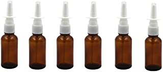 15ml (1/2oz) Empty Brown Glass Sprayer Bottle Pump Snoot Cleanser Container for Medical Applications Saline Nasal Sprays Wash Dispensing (Brown)