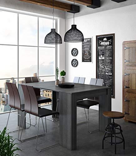 Home Innovation - Tavolo Consolle per Sala da Pranzo e Soggiorno, Rettangolare, allungabile Fino a 140 cm, Colore Grigio, Fino a 6 Persone, Dimensioni Chiuso: 90x50x78 cm.