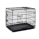 """42"""" Pet Dog Cage Collapsible Metal Crate Kennel Portable Puppy Cat Rabbit House"""