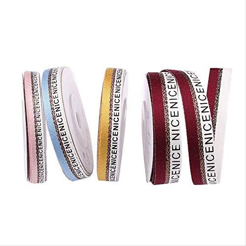 DIY Haarband Gift Gift Box Decoratie Lint Lint Kleding Accessoires Geweven Riem 1,5 Cm * 5 M / 4 Stks Willekeurige Kleur