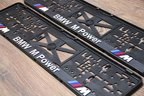 2x mpower Kennzeichenhalter Nummernschildhalter KFZ Halter for EU außer AT M Power Performance