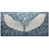 Boiee Art,24x48inch 100% Hand Painted Abstract Wings Canvas Paintings Modern Artwork Texture Oil Painting Home Decor Art Wood Inside Framed Ready to Hang for Dining Room Hallway