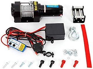 Cikonielf 2000lb 12V 2721 kg Kit Argano Elettrico,Kit verricello Elettrico,con Telecomando,per rimorchio Camion Auto