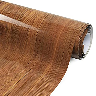Wood Grain Adhesive Film - High Gloss - Economical alternative to rehabilitate your countertops, backsplash and cabinets - eBook Included