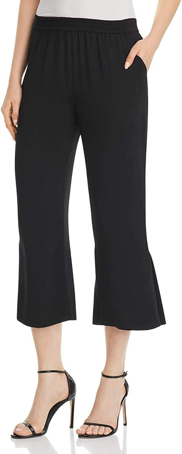 Le Gali Womens Flare Pleated Cropped Pants