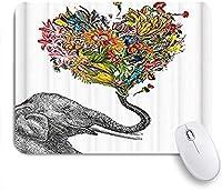 ZOMOY マウスパッド 個性的 おしゃれ 柔軟 かわいい ゴム製裏面 ゲーミングマウスパッド PC ノートパソコン オフィス用 デスクマット 滑り止め 耐久性が良い おもしろいパターン (象のハート型の花)