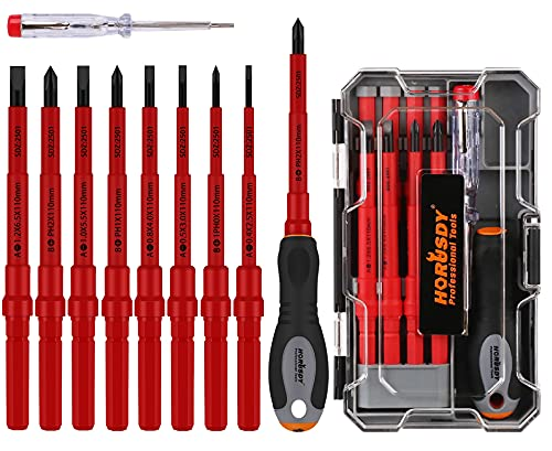 HORUSDY 1000V Insulated Screwdriver Set, 10-Pieces All-in-One Magnetic...