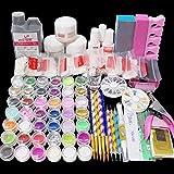 Latorice Acrylic Nail Kit with everything, Nail Art Set Acrylic Powder And Liquid Brush Glitter File French Tips Nail Art Decoration Tools