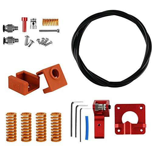 FYYONG Impresora 3D Accesorios PTFE Primavera de Doble Engranaje Derecho de Doble Extrusora Kit for Creality CR-10S-3 Pro Ender