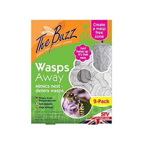 STV International 2 Pack Wasps Away Wespen, 2 Stück, grau, 2,5x17,5x23 cm