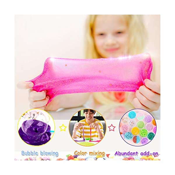 Slime Kit for Girls Boys,Slime for Kids Unicorn Sime Kit-12 Slime,10 Slime Glitters,4 Slime Charms,Slime Supplies for… 4