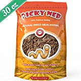 PICKY NEB 100% Non-GMO Mealworms for Chickens 30 oz - Whole Large Dried Meal Worms Bulk - High-Protein Chicken Treats (Ducks, Wild Birds, Turtles, Hamsters, Fish, and Hedgehogs)