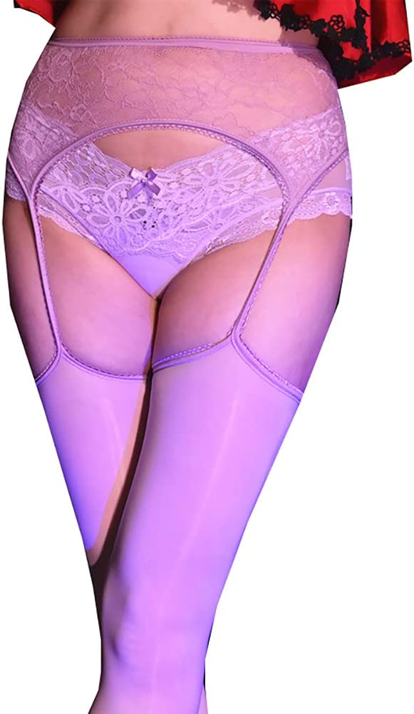 AmerStar 8D Women's Sheer one-Piece Four-Sided Open File Tights Oil Shiny Stockings Pantyhose(Underwear Does not Contain)