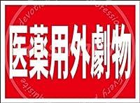 「医薬用外劇物」 金属板ブリキ看板警告サイン注意サイン表示パネル情報サイン金属安全サイン
