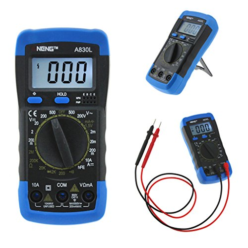 Wanfor Aneng A830L Digital-Multimeter LCD DC AC Diode Freguency Multitesters blau + schwarz