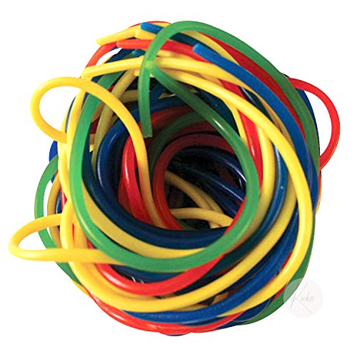 Kicko Rainbow Licorice Laces - 2 Pounds - 32 Ounces - Bulk Candy - Shoestring Sweets for Kids, Party Favors, Snacks, Treats, Gifts, Movie Snacking, Stocking Stuffers and More