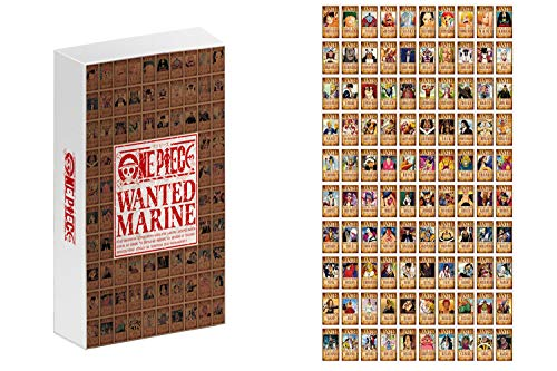 Sweet&rro17 100 Stk Anime One Piece Wanted Postcards Mailable Postkarte Photocard, Geschenk für Fans
