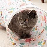 Mufee Lucky Cat Pet Cat Tienda de campaña a rayas Cat Cat Cat Tunnel S-Type Cat Tent Cat Toy Cat Channel Rolling Dragon-1