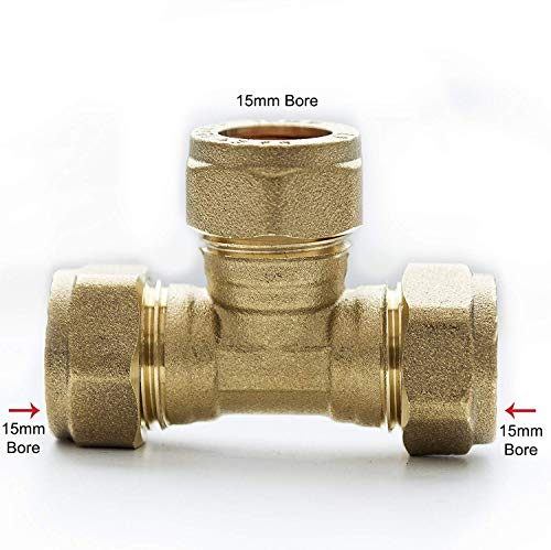 15mm Brass Compression Equal Tee...
