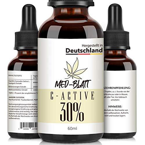 Natur-Öl mit Natürlichen Zutaten, Reich an Fettsäuren, Vitaminen und Mineralien, 100% Vegan 60ML 30 Prozent, Hergestellt in DEUTSCHLAND