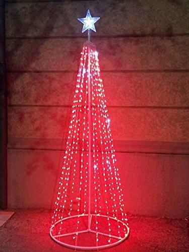Salone Negozio Online Albero di Natale Style Basic 576 LED+Flash con Stella Altezza 2 Mt 24V Rosso