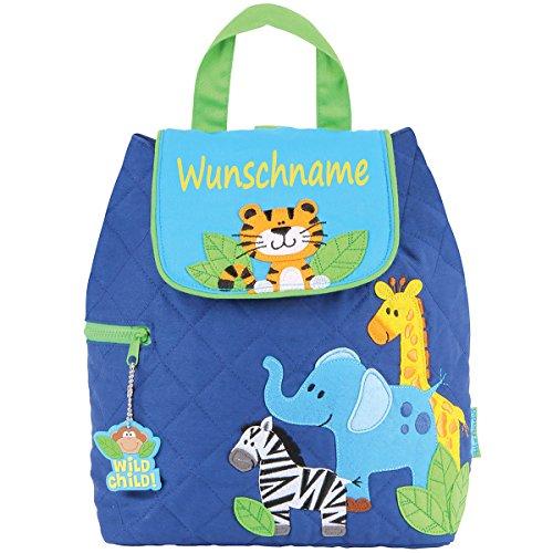 Rucksack Kindergartentasche mit Namen bedruckt Motiv Tiger
