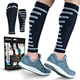 POWERLIX Calf Compression Sleeve (Pair) – Supreme Shin Splint Sleeves for Men & Women – Perfect for Your Calves for Running, Ultimate Support for Leg Pain Relief and Recovery – 20-30 mmHg