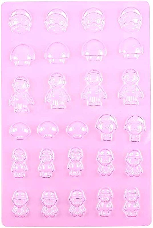 1 PCS Chocolate Candy Making Molds Baby Shower F206 Super Mario Plastic Cake Frozen Baptism Mothers Day Cookie