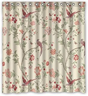 Shower Curtain with summer palace cranberry Design 100% Waterproof & Eco-Friendly Large Size(66