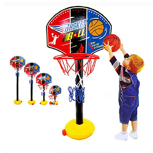 LXLTLB Verstellbare Kinder Kinder Junior Basketballkorb Und Ständer Ball Pump Backboard Set Indoor Und Outdoor Ballspielzeug Aktivitäten für 3-7 Jahre Ältere Kinder Sportspiel
