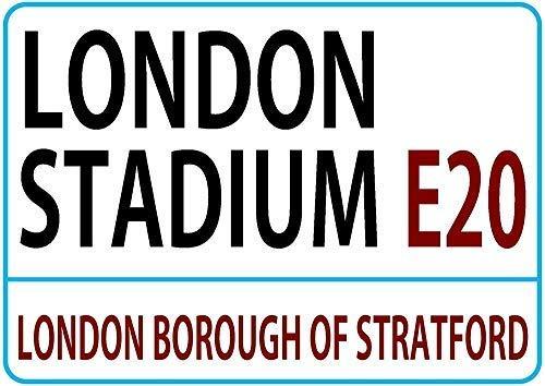 LynnYo22 London Stadium London Street Style Metal Sign 8x12