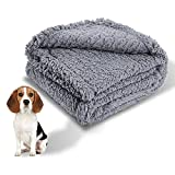 Cozy Fleece Dog Blanket Large Fuzzy Soft Washable Puppy Blankets Sherpa Couch Pet Cat Throw Anxiety Weighted Bed Pad Cover Gray