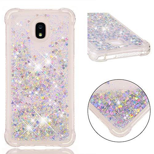 Capa para Samsung Galaxy J7 2018 / Galaxy J7 V 2ª geração/Capa para Galaxy J7 Aero/J7 Star/J7 Top/J7 Crown/J7 Aura/J7 Eon/J737V/J737T, ZERMU Clear Moving Liquid Quicksand Case para J7 2018
