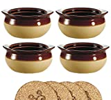 Ecodesign Bowls - Set of 4 - Brown and Ivory French Onion Soup Bowls - 300 ml (10.5 Ounce) –...